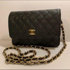 CHANEL Mini Caviar Leather Shoulder Bag